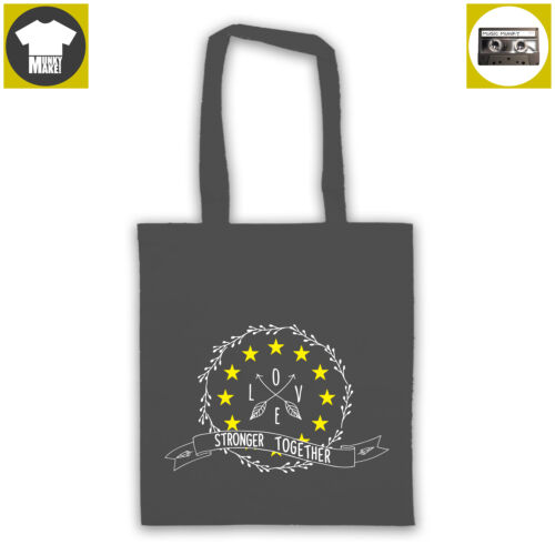 STRONGER TOGETHER pro EU tote shopper bag shopping protest opposition to Brexit