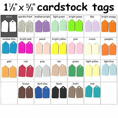 Tags Color Cardstock Small Blank Colored Consignment Shop Craft Sale Price Tag