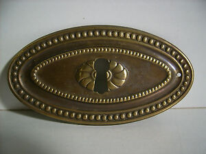Restaurierungsbedarf Schlüsselschild,messingblech,brünniert,möbelbeschlag,restauration,kommode