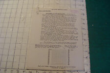 vintage car paper: TAPLEY PERFORMANCE METER 4pages, How to Use the Meter 1920's