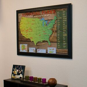 National Parks USA - Travel Map with Pins - Track Your Travels ...
