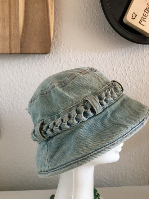 Hat, Solhat, Festivalshat, str. One zice,  Blå,  Denim,…