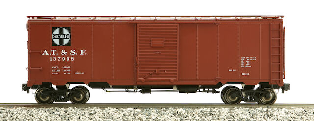 Accucraft am32-557 AAR BOX CAR-ATSF, different numbers, NEW
