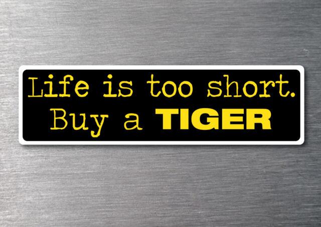 Tiger Triumph sticker 7 yr water & fade proof vinyl car motorbike