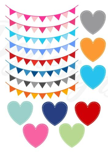 Transfers*iron on* baby grow* vest* t shirts BUNTING /& HEARTS