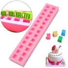 New 26 English Letters 3D Baby Building Block Fondant Cake Chocolate Molds Tools