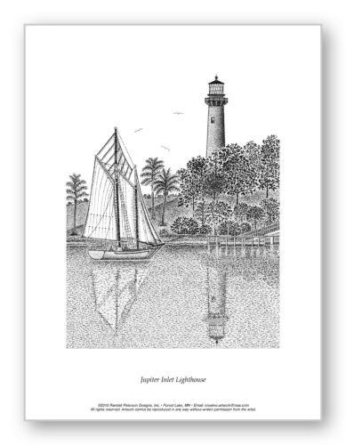 Limited Edition Print Jupiter Inlet Lighthouse