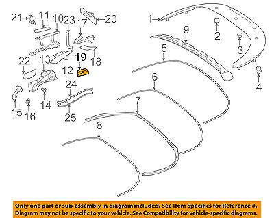 PORSCHE OEM 06-13 911 Convertible//soft Top-Latch Cover 9975615150001C