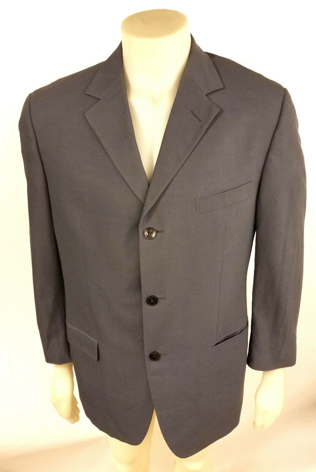 ERMENEGILDO ZEGNA MEN SOFT SHELL 3 BUTTON SUIT grau RAYON/COTTON (52R PANT 32W)