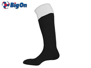 CLEARANCE NEW* BIGON - TURN OVER TOP FOOTBALL SOCKS - YOUTH 3-6 - BLACK/WHITE