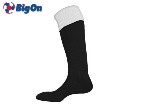 YOUTH 3-6 BLACK//WHITE CLEARANCE NEW* BIGON TURN OVER TOP FOOTBALL SOCKS