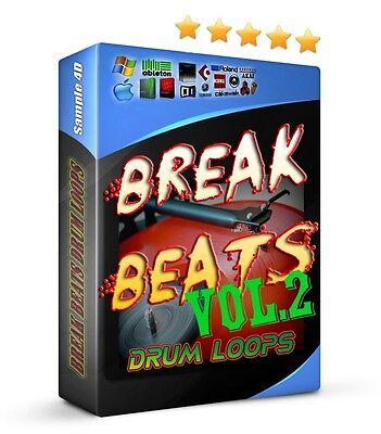 2.7GB Breakbeats VOL2 Drum Loops Samples Soul Funk Hip Hop Jazz Reason FL Studio