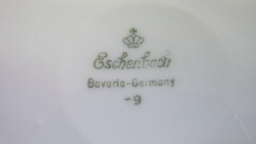 Wunderschöne Eschenbach Sauciere mit Unterteller und floralem Dekor gemarkt