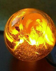 "11/16"" ELECTRIC MICA FLOAT COBRA HONEY HAND GATHERED NL Onyx SLAG German Marbles"