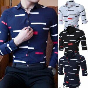 Men-039-s-Casual-Formal-Shirt-Long-Sleeve-Slim-Fit-Business-Dress-Shirts-Tops-Blouse