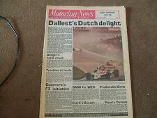 Motoring News 24 July 1980 VW Jetta Test Border Counties Rally Zandvoort F2