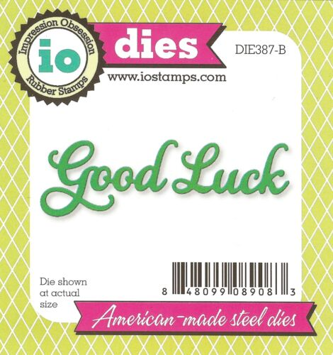 NEW DIE387-B High Quality Steel Die Set IMPRESSION OBSESSION Good Luck Text