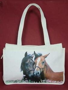 di Cavallo Mario a tracolla a design Shoppingtasche Canvas Moreno mano Borsa OHIEw8