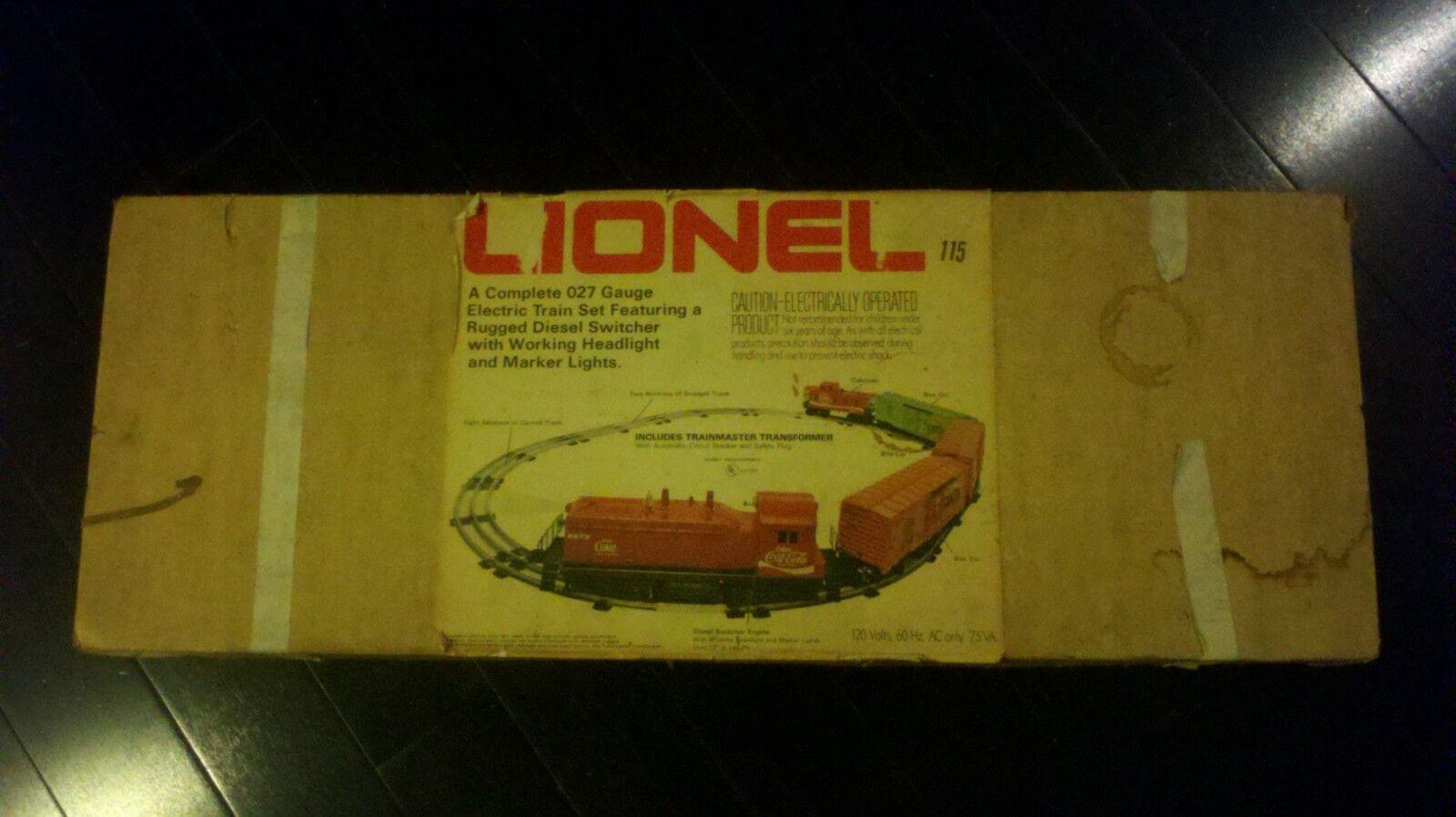 Coca Cola Lionel Train Set  partial rail