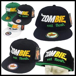 BLACK   ZOMBIE eat flesh   SUBWAY SANDWICH PARODY SPOOF Snap Back ... 5b37a879dd3