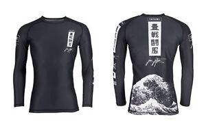 Tatami Kanagawa BJJ Rash Guard Mens Jiu-Jitsu MMA Long Sleeve Rashguard No-Gi