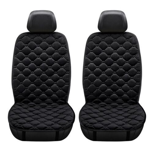2Pcs Car Front Seat Heating Cover Pad Winter Velvet with Temperature Controller