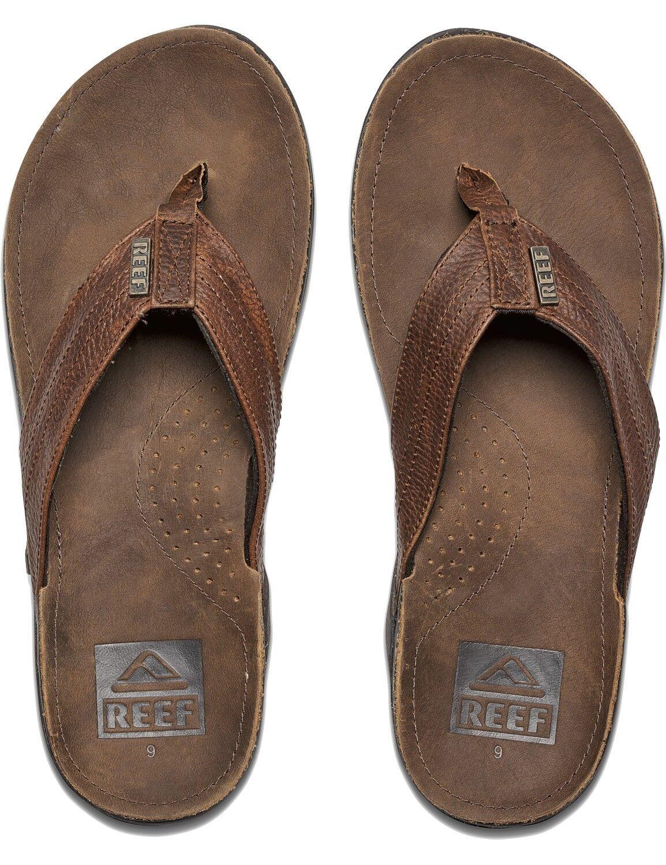 Reef toe separators Mens Sandals Beach Bath Slippers  J-Bay III  Camel Brown