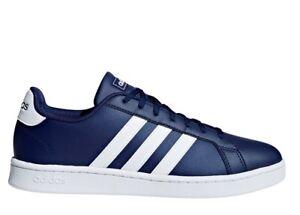 Adidas-GRAND-COURT-F36404-Blu-Scarpe-Uomo-Sneakers-Sportive