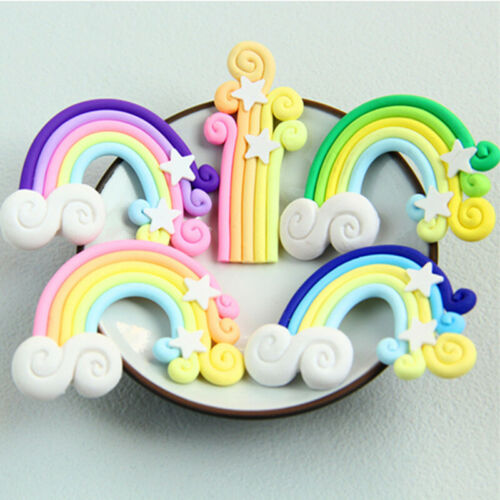 Kawaii Rainbow Resin Flatback Cabochon Embellishments DIY Crafts Decoration