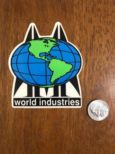 Vintage SMA World Industries Globe Skateboard Sticker NOS 1989