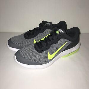 best cheap 02b6a d6bc7 Image is loading Nike-Boys-Air-Max-Advantage-Grey-Volt-Size-