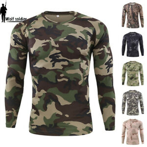 ESDY-Mens-Combat-T-shirt-Long-Sleeve-Camouflage-Army-Tactical-Military-Casual