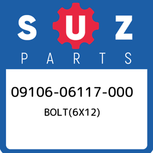09106-06117-000-Suzuki-Bolt-6x12-0910606117000-New-Genuine-OEM-Part
