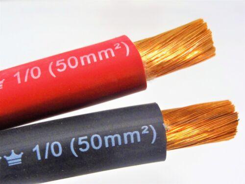100/' EXCELENE 1//0 AWG WELDING//BATTERY CABLE 50/' RED 50/' BLACK 600V USA MADE EPDM