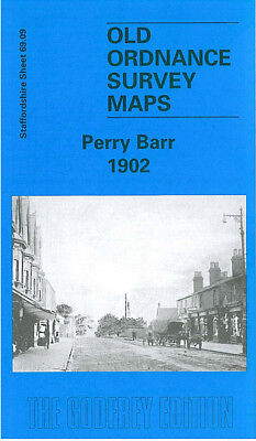 OLD ORDNANCE SURVEY MAP PERRY BARR 1902 WELLHEAD BREWERY HOLFORD MILL BIRMINGHAM