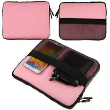 "Pink Neoprene Sleeve Tablet Case Cover Zipper Pouch For iPad Pro 9.7""/iPad Air 2"