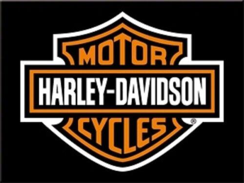 Harley Davidson Logo Magnet  6x8 cm 14227 Kühlschrankmagnet Schild Sign