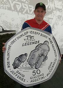 2015-Isle-of-Man-TT-Legends-50p-coin-Gratuit-P-amp-p-McGuinness-DUNLOP-HAILWOOD