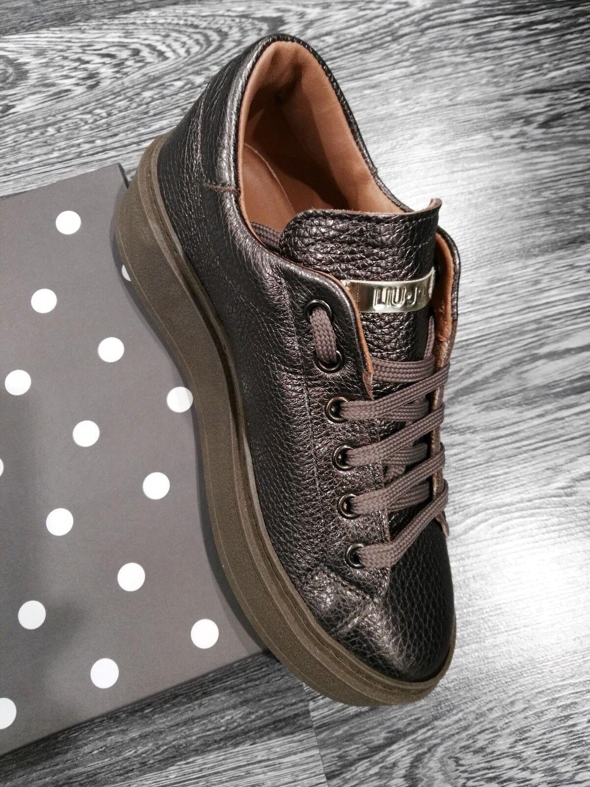 LIU JO,Sneakers JO,Sneakers JO,Sneakers Echtleder ,Bronze, farbe,RABATT 20%,Sohle Gummi,FLATFORM. a18442
