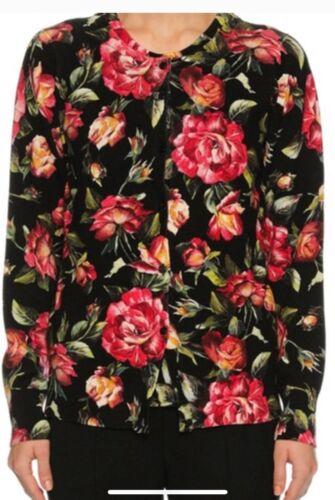 dolce and gabbana rose cashmere cardigan