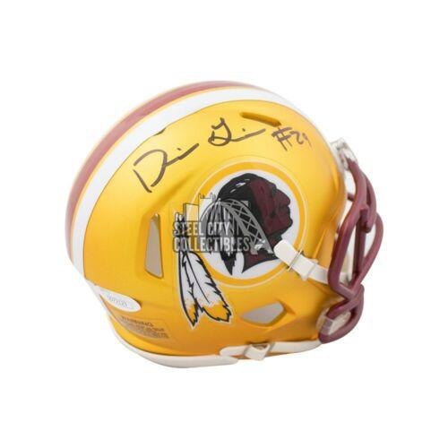 Derrius Guice Autographed Washington Redskins Blaze Mini Football Helmet JSA COA