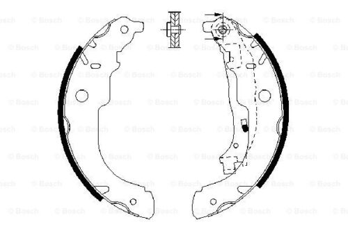 GENUINE 5 YEAR WARRANTY Bosch Rear Brake Shoe Set 0986487721 BS941