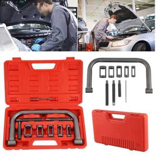 10Pcs Car Motorcycle Valve Spring Clamps Compressor Repair Tool Bit Set with Box