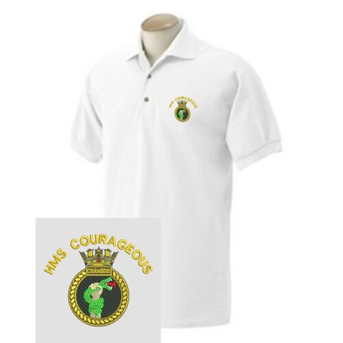 HMS Courageous Embroidered Polo Shirts
