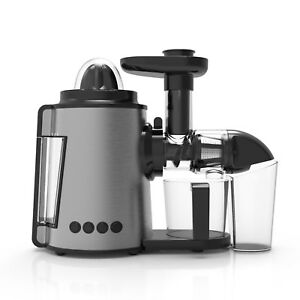 AUCMA 2 In 1 Cold Press Slow Juicer