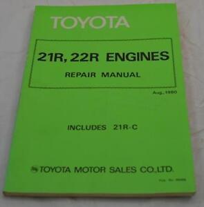 toyota 21r 22r engine repair manual 1980 includes 21r c ebay rh ebay com au toyota 21r 22r engine repair manual pdf toyota 21r engine repair manual