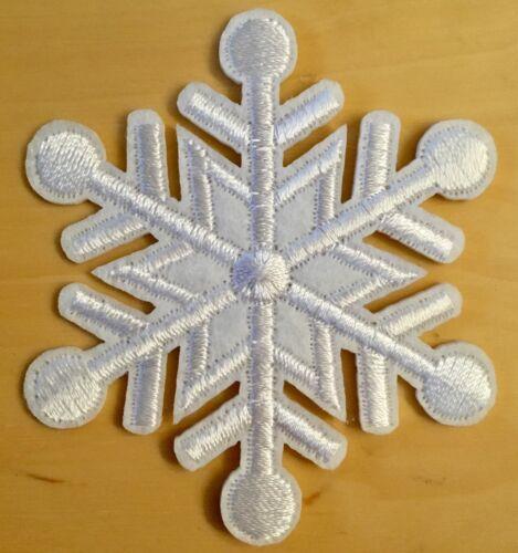 Copo de nieve aufbügler//patch snow flake Iron-On Patch copos de nieve blanco