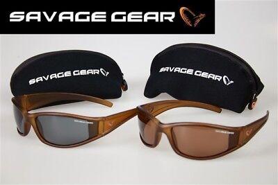 SAVAGE GEAR Slim Sonnenbrille Polarisationsbrille Angelbrille Sportbrille Etui