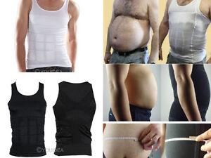 7cce0dc9c22 Details about Men Body Slim Fit Tummy Shaper Vest Belly Waist Girdle Shirt  Underwear Shapewear