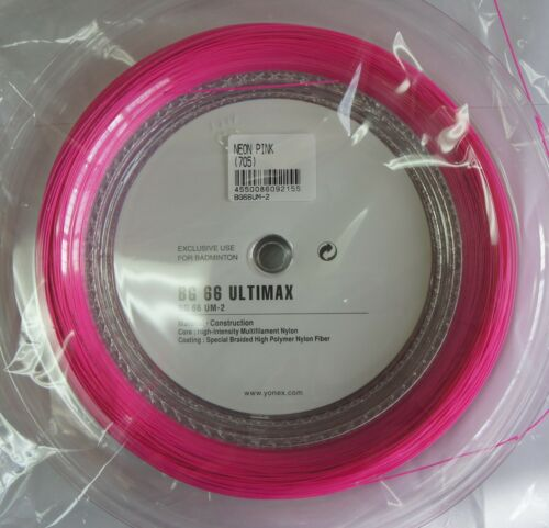 BG 66 Ultimax BG-66UM Many Colours YONEX BG66 UM 200 m Coil Badminton String